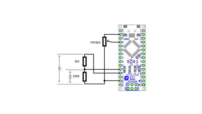 Arduino アナログ入力の動作確認