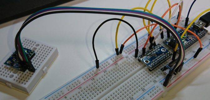Arduino 加速度&ジャイロセンサーを確認する